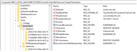 tcpip parameters